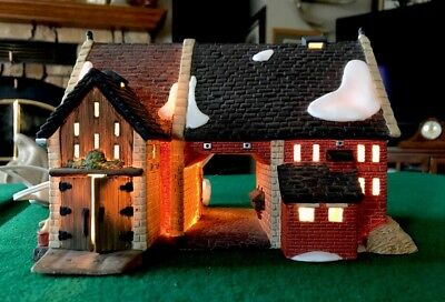 Department Dept 56 Butter Tub Barn Dickens Heritage Village Series With 2 Lights