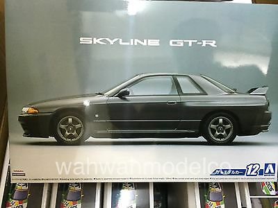 Aoshima 051634 The Model Car 12 Nissan BNR32 Skyline GT-R '89 1/24 Scale Kit
