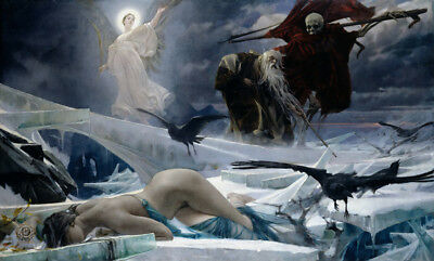 Ahasuerus at the End of...  by Adolf Hiremy-Hirschl  Giclee Canvas Print Repro