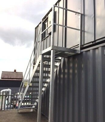 2.4m High Mezzanine Staircase Metal Staircase Fire Escape 750 step £1065 + VAT