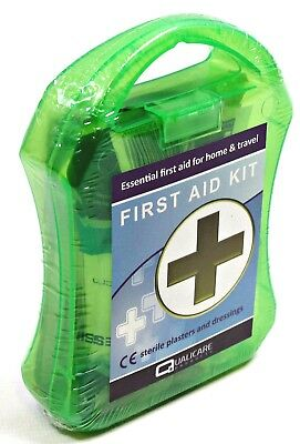 QF0001 Small HANDY FIRST AID KIT Box Home Travel Plasters Bandage Dressing Wipes