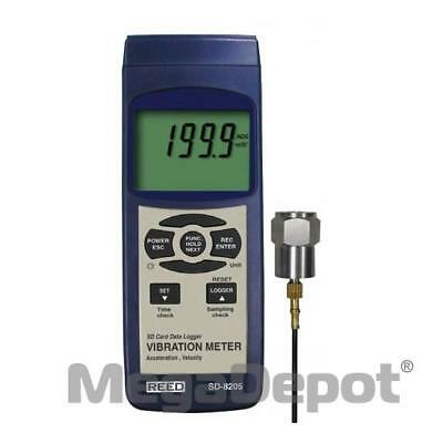 Reed SD-8205-NIST, SD Series Vibration Meter / Datalogger w/ NIST Certificate
