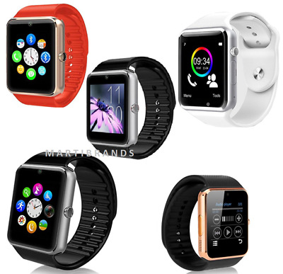 Smart Watch Bluetooth GSM Call MP3 Clock For Adults Apple Android Player Sim
