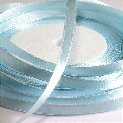Satin Band 6mm Blue Dragée Set of 2 rolls 44 Meters