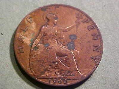 Coins Of The World 1900 Great Britain Half Penny Km-789 (Queen Victoria) #m-1