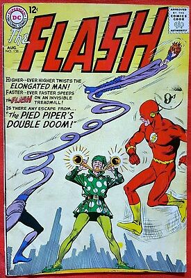 FLASH 138 DC Silver Age 1963 Pied Piper appearance