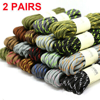 Round Athletic Shoe Lace Canvas Sneaker Shoelaces Unisex Strings Hiking Boots