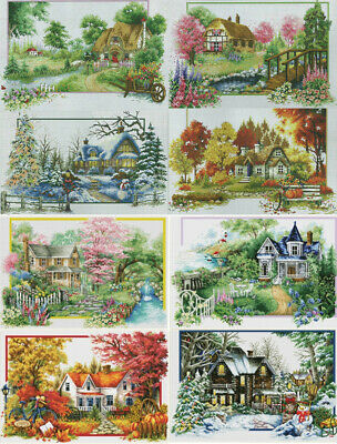 Handmade Counted Cross Stitch Kit Set Embroidery Needlework DIY Landscapes New