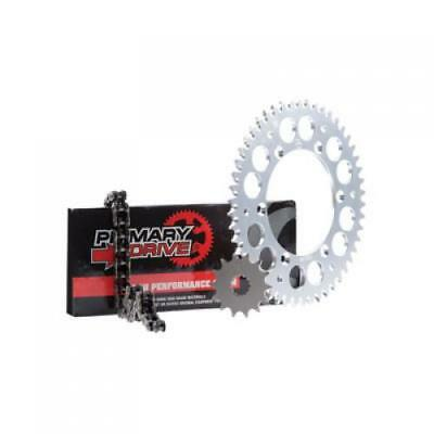 Primary Drive Alloy Kit & X-Ring Chain Silver Rear Sprocket HONDA CR125R 2000-20
