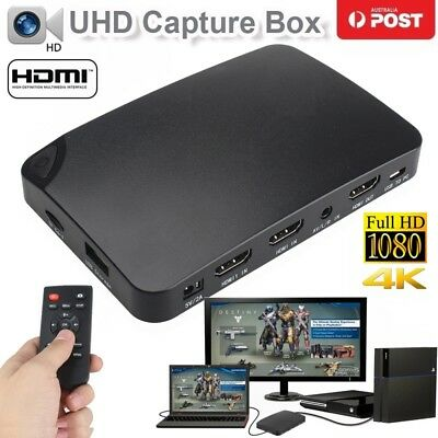 4K Live Stream Capture Video Recorder HDMI HDCP Decode PS3 PS4 Xbox Wii TV I.R.