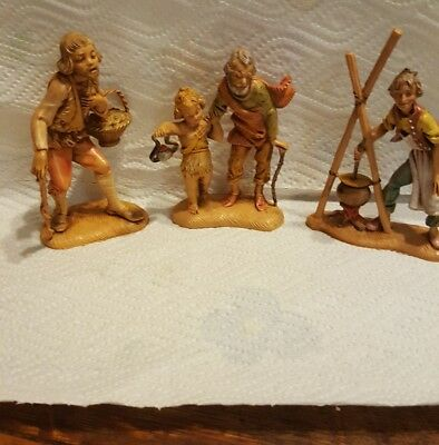 VINTAGE FONTANINI DEPOSE ITALY 4 in figurines lot of 3