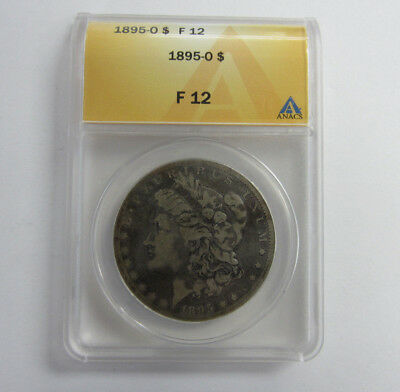 1895 -O- Morgan Silver Dollar ANACS Graded F12 Rare Key Date  -- Free Shipping *