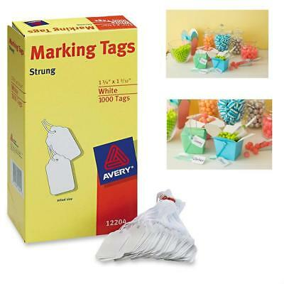 Hang Tag Strung Paper Card Label Loop Price Mark 1.75 by 1.093 Inches Pack 1000