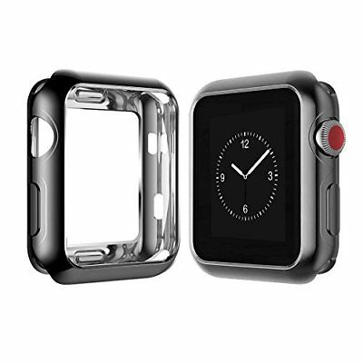 Apple iWatch 42mm Case Soft Slim Hard Bumper Full Body Cover Lightweight Black