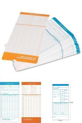 Time Cards Monthly Format Thermal Print Paper Time Sheet for Daily 50 Pack