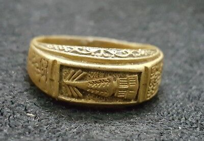 1992 vintage ring Phra thatuphnm temple size 23 mm. Add up fortune holy protect