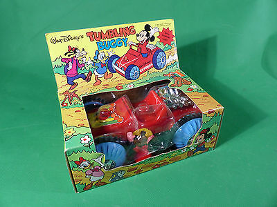 vintage 1970's Walt Disney Tumbling Buggy mit Mickey Mouse - NOS - MISB