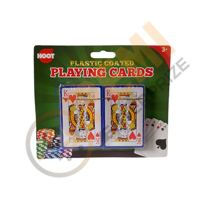 Pack of 2 PLAYING CARDS-Poker Gambling Gaming Snap Deck Kings Queens FAST FREE