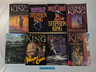 Lot 8 Books by Stephen King ~ Complete Dark Tower Series ~ 5 Hardcover & 3 Trade