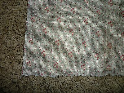 Antique Calico Cotton Fabric 1800's  24 wide by 15