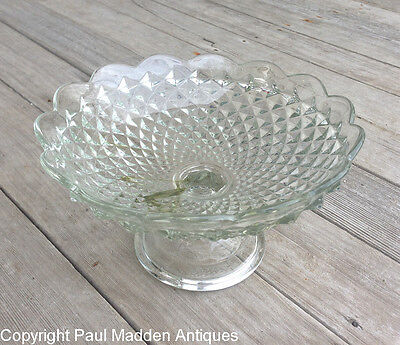 Antique Sandwich Glass Compote