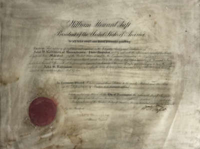 William Taft Signed Autographed Presidential Document Beckett BAS