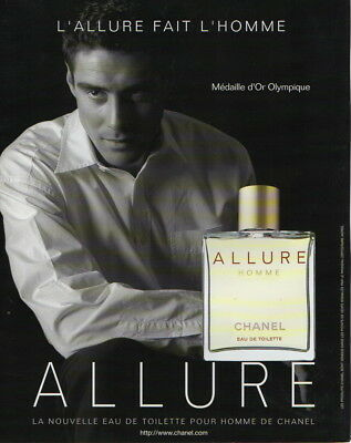 Publicite Presse Advertising 1999 CHANEL  Parfum  Allure  Homme
