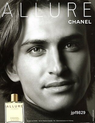 Publicite Presse Advertising 2003 CHANEL  Parfum  Allure  Homme
