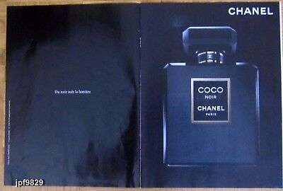 Publicite Presse Advertising 2013  CHANEL  Parfum COCO NOIR  - 2 pages