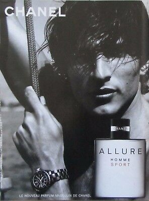 Publicite Presse Advertising 2004 CHANEL  Parfum  Allure  Homme