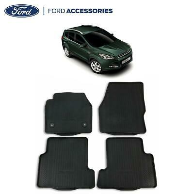 Genuine Ford Kuga MK2 front and rear black Rubber Floor Mats 2012-2016 1806312