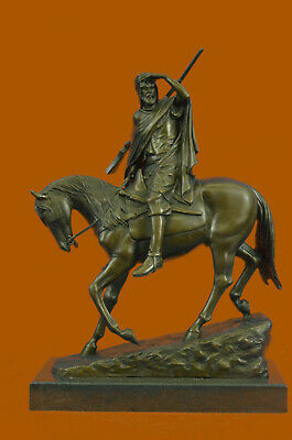Art Deco Hot Cast Middle Eastern Man Riding Horse Bronze Masterpiece Figurine