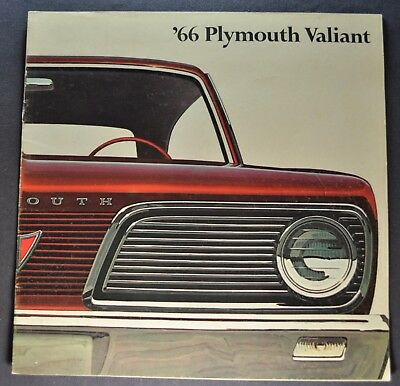 1966 Plymouth Valiant Catalog Brochure Signet 100 200 Wagon Excellent Original