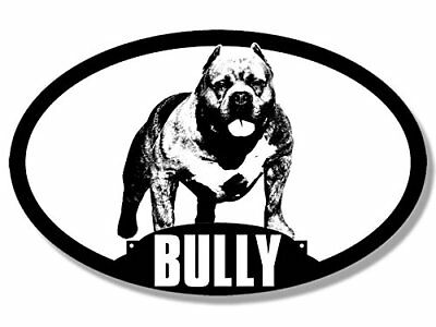 3x5 inch Oval Dog Breed American BULLY Silhouette Sticker - pit bull love my i