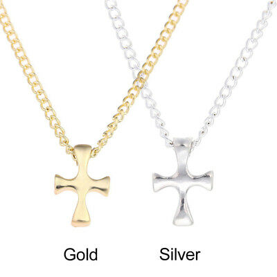 Stainless Steel Cross Pendant Collarbone Short Chain Necklace Gift