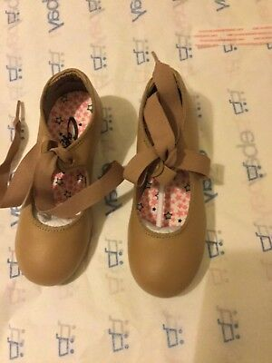 NEW Capazio Little Girls Tap Shoes Caramel/Tan Childs - 9.5W