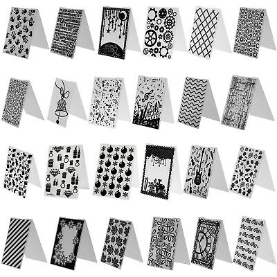 86Type DIY Embossing Folder Plastic Template Die Cutting Scrapbooking Album Card