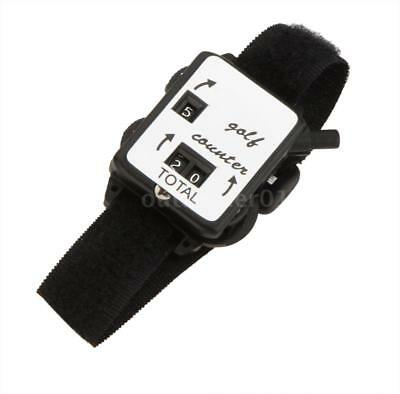 New Golf Club Stroke Score Keeper Count Putt Counter Watch Wristband Band F3W8