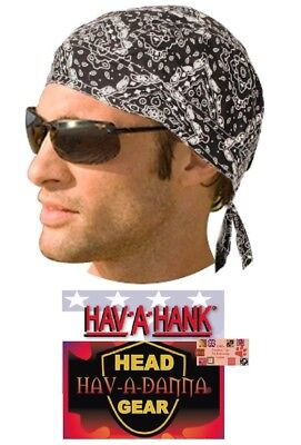 473d5e2a7dd BLACK PAISLEY LINED DU DO DOO RAG FITTED Tied BANDANA Ties Skull Head Wrap  CAP