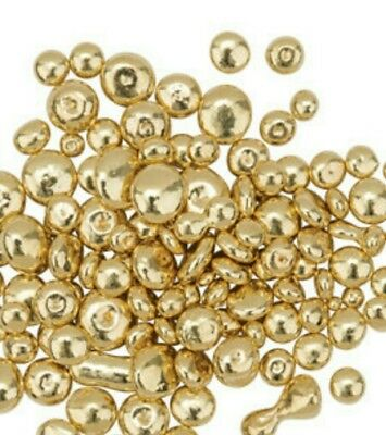 1 gram  18k gold shot casting grains - Yellow Gold bullion ,not scrap or bar