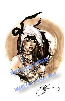 Ebas   X-Men Savage Land Rogue Art Print Signed  11X17