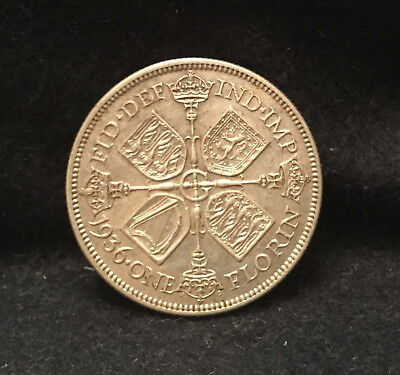 1932 Great Britain silver florin (2 shillings), scarce, key year, KM-834