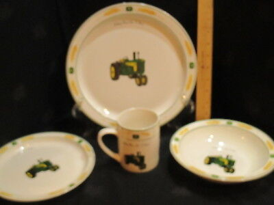 Gibson Usa John Deere Tractors 4 Piece Place Setting Licensed