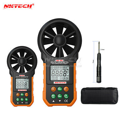 NKTECH Digital Anemometer Wind Speed Meters Air Flow Volume Humidity LCD Gauge ℃
