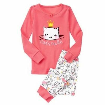 NWT Gymboree Girls Gymmies pajamas Cats Rule Many Sizes