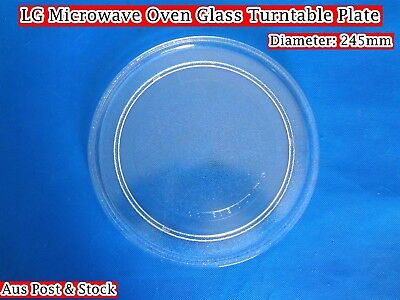 LG Microwave Oven Glass Turntable Plate Platter 245mm Suits Many Brand (W9) NEW