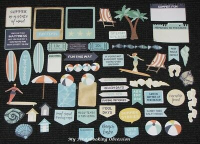 Kaisercraft 'SUMMER SPLASH' Collectables Die Cut Shapes Beach/Holiday KAISER