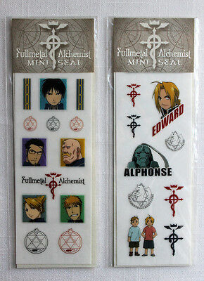 FMA FullMetal Alchemist 2 Mini Sticker Seal Sheets Set MOVIC Edward Roy Alphonse