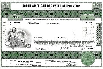 North American Rockwell Corporation, 1970 (18 Shares) Nr.7000