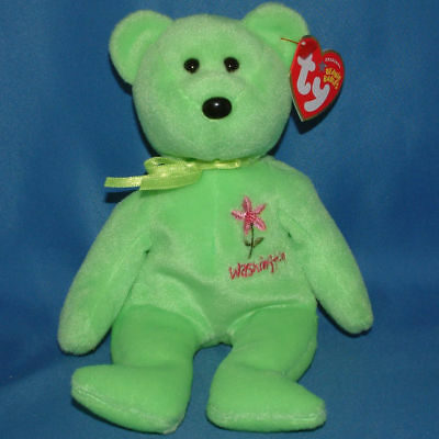 Ty Beanie Baby Washington Rhododendron - MWMT (Bear Show Exclusive)